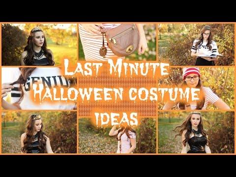 Last Minute DIY Halloween Costume Ideas!