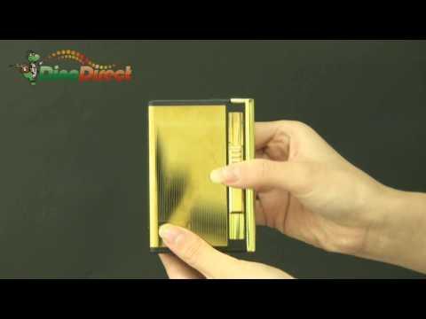 2 in 1 Cigarette Case Holder with Windproof Lighter Gold - dinodirect