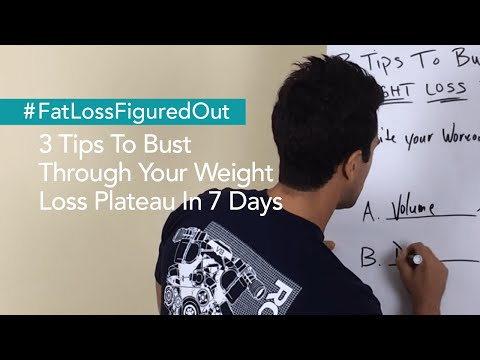 3 Tips To Bust Through Your Weight Loss Plateau In 7 Days
