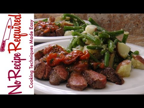 Plated's Steak & Tomato Vinaigrette Recipe Review - NoRecipeRequired.com