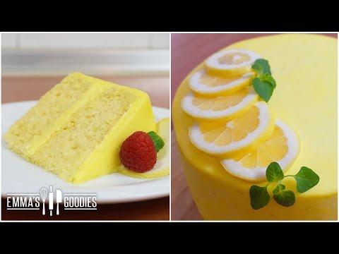 Lemon Cake Recipe with Lemon Cream Cheese Frosting