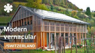Translucent Swiss barn-modern home regulates views & climate