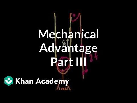 Mechanical advantage (part 3) | Work and energy | Physics | Khan Academy