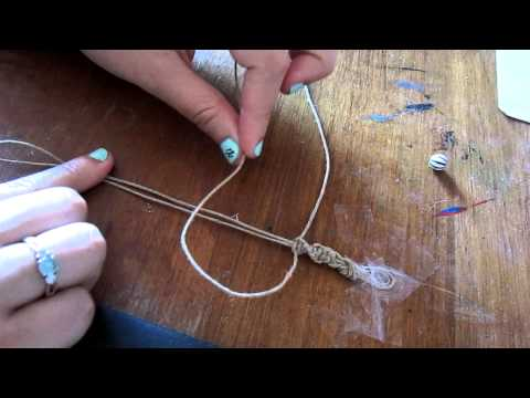 How to make the spiral knot hemp bracelet