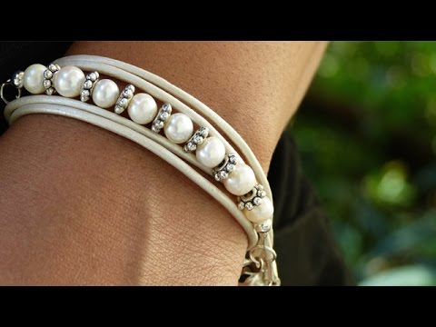How to Make a Leather Wrap Bracelet