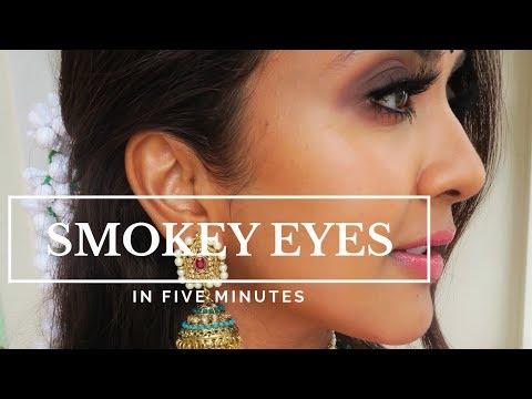 Smokey Eyes in 5 minutes   Vithya Hair and Makeup