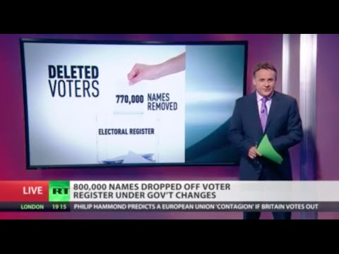 800,000 names removed from the voter register