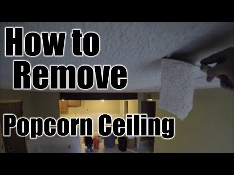 DIY | HOW TO REMOVE POPCORN CEILING | THE HANDYMAN
