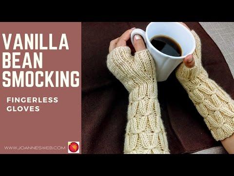 Vanilla Bean Smocking Fingerless Gloves | Start to finish mittens