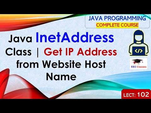 Java InetAddress Class – How to Get IP Address from Website Host Name with Example