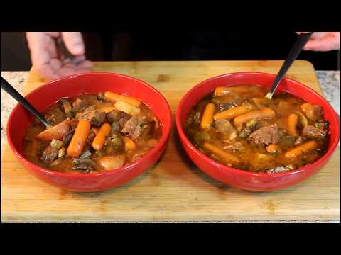 Slow Cooker Beef Stew!  (Come home to a hot meal!)