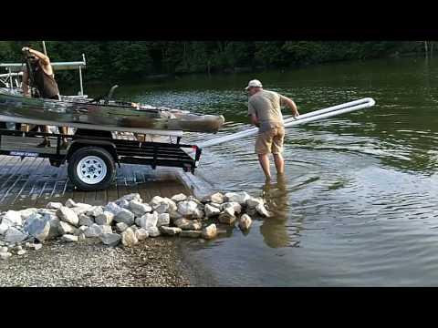 Kayak trailer loading ramp DIY
