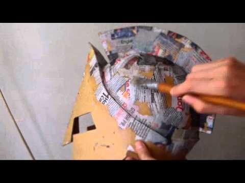 #47: 300 King Leonidas Helmet DIY part 3: Cardboard, Paper Mache