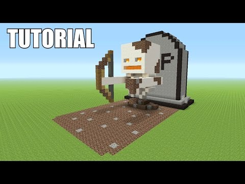 Minecraft Tutorial: How To Make A SKELETON! RISING FROM THE DEAD! (Survival House)