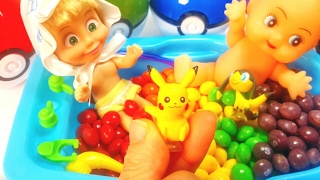 쌍둥이 아기 인형 캔디 목욕놀이 중 포켓몬스터들이!!!  Маша и медведь