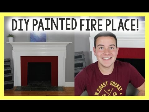 DIY Painted Fire Place | Chalky FInish Paint DIY | Home Improvement