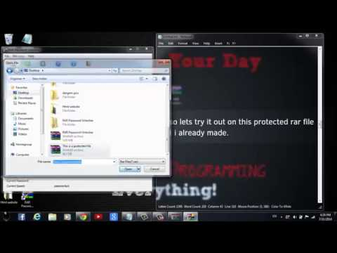 Best way to unlock password protected winrar files 2014
