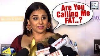 Vidya Balan SHOCKED After Being Called FAT By A Reporter | LehrenTV