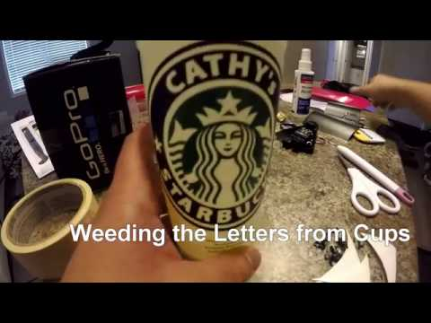 Personalized your Starbucks Cups Using Cricut