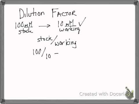 Dilutions using Dilution Factor Bio25