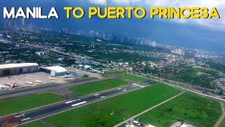 Flight from Manila to Puerto Princesa, Palawan | engine view