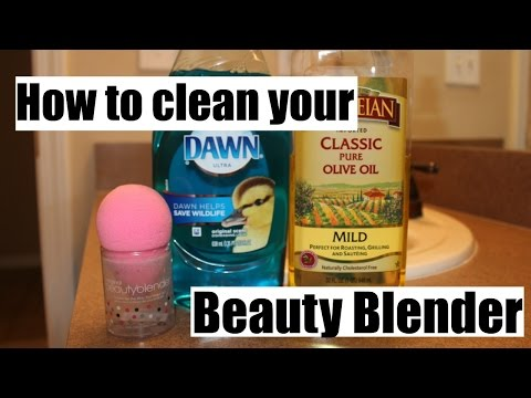 How to clean a beauty blender! For cheap $$