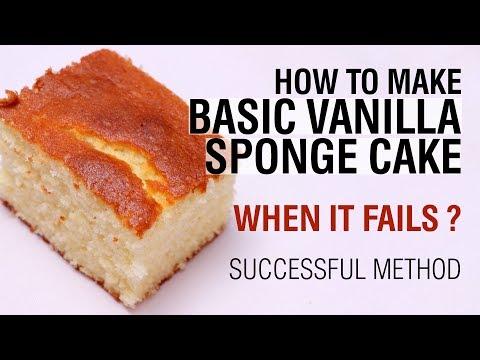 How to make Basic Sponge Cake Softly | Vanilla Sponge Cake Recipe - WOW Recipes