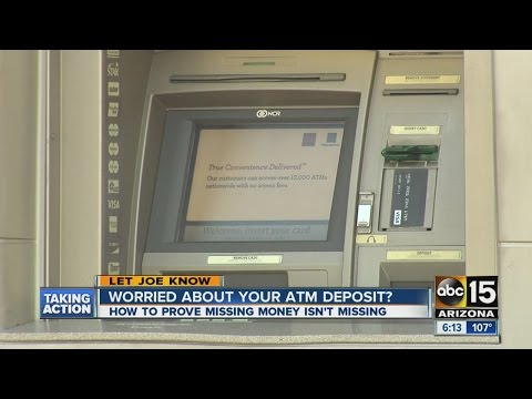 Be careful when depositing money to ATM