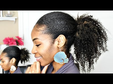 Ponytail with Clip In Extensions on Natural Hair