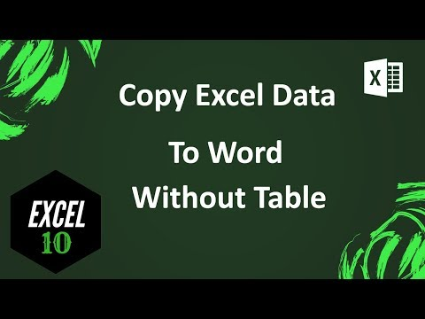 How To Copy Excel Data To Word Without Table By Using Convert To Text Function