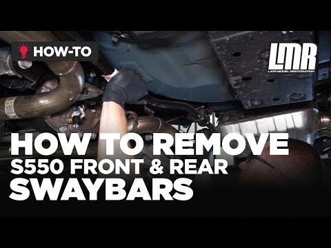 How To Remove S550 Mustang Front & Rear Sway Bars (2015-2019)