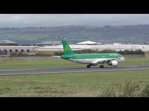A Windy Day at Belfast City Airport - Panasonic HC-VX870 4K test