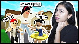 MY DAUGTHER AND SON HATE EACH OTHER! - Roblox Roleplay - My Cute Family