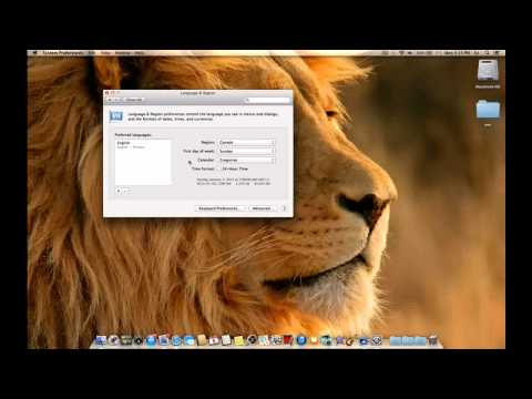 tutorial on Language & region and how to change your calendar on macbook