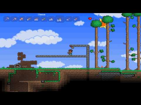 Terraria Playthrough Ep. 2 :: Building a Shelter + Cave Exploring (Re-Uploaded)