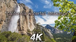"""California Waterfall Relaxation"" 4K Nature Video ft Yosemite, Seqouia & Big Sur"