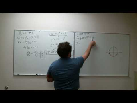 Section 3.5 - Rewriting an Implicit Equation in Implicit Form