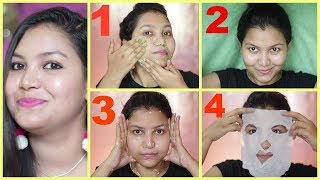 Natural Facial at home to get glowing fairer bright skin,/INDIANGIRLCHANNEL TRISHA