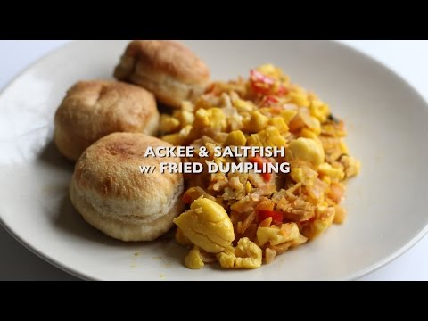 Ackee & Saltfish with Fried Dumplings MADE EASY!