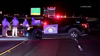 Fatal Vehicle Vs Pedestrian 15 South / Cajon Pass   Raw Footage