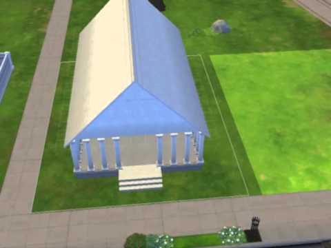 Construction du Parthénon dans les Sims 4