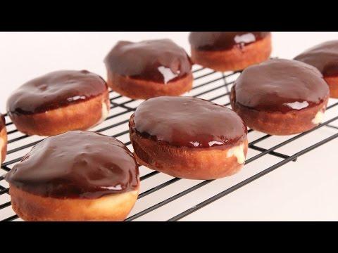 Homemade Boston Cream Donuts Recipe - Laura Vitale - Laura in the Kitchen Episode 867