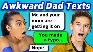TEENS READ 10 AWKWARD DAD TEXTS (REACT)