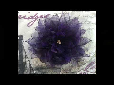 How to make an Organza Flower (step by step)