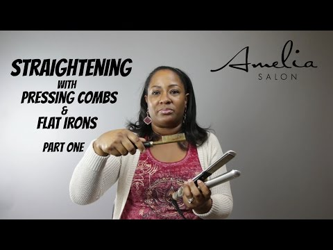 Pressing Natural Hair with a Hot Comb | Flat Iron