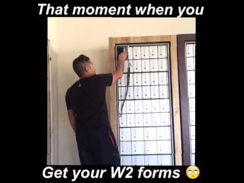 That moment when you get your W2 form lol