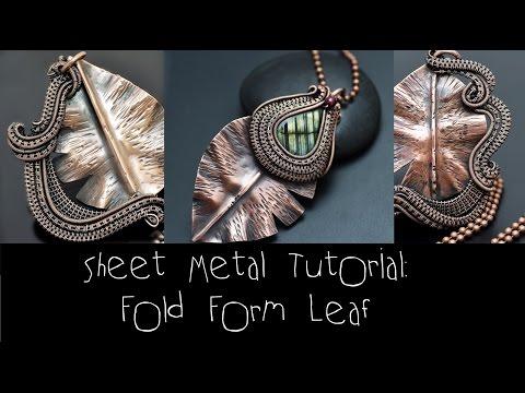 Sheet Metal Tutorial FOLD FORM LEAF