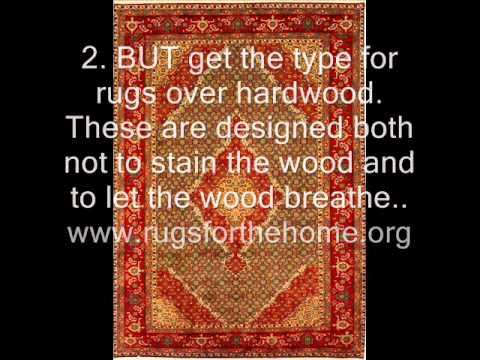 How to keep area rugs from slipping on wood floors