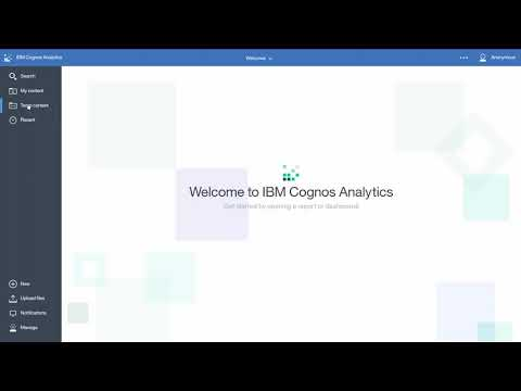 How to Navigate the Portal (Basic) in IBM Cognos Analytics