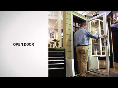 Stationary Window Replacement on Andersen® Full-Lite Self-Storing Storm Doors